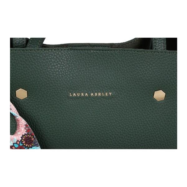 Zelená kabelka z koženky Laura Ashley Sekforde