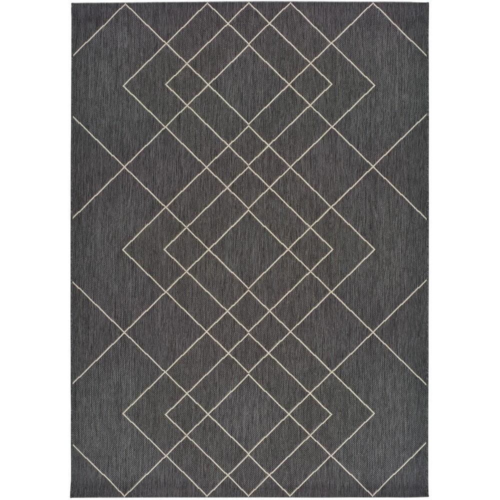 Šedý venkovní koberec Universal Hibis, 160 x 230 cm