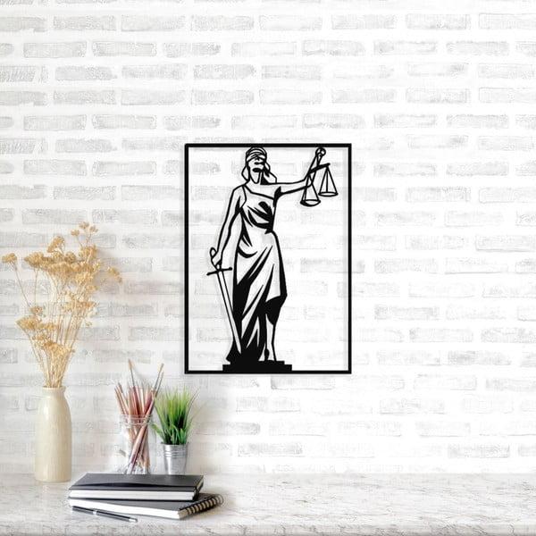 Černá kovová nástěnná dekorace Symbol of Justice, 69 x 50 cm