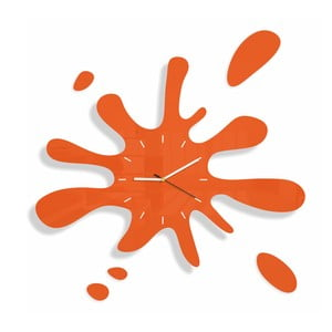 Hodiny z plexiskla Splash Orange