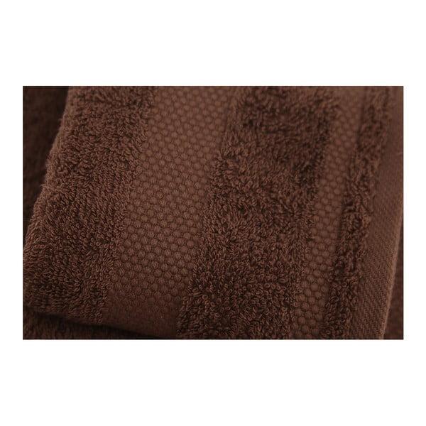 Sada 2 tmavě hnědých ručníků Tommy