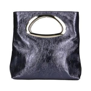Černá kožená kabelka Chicca Borse Lumino