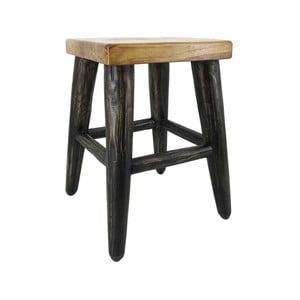 Stolička z teakového dřeva Moycor Black Legs Stool