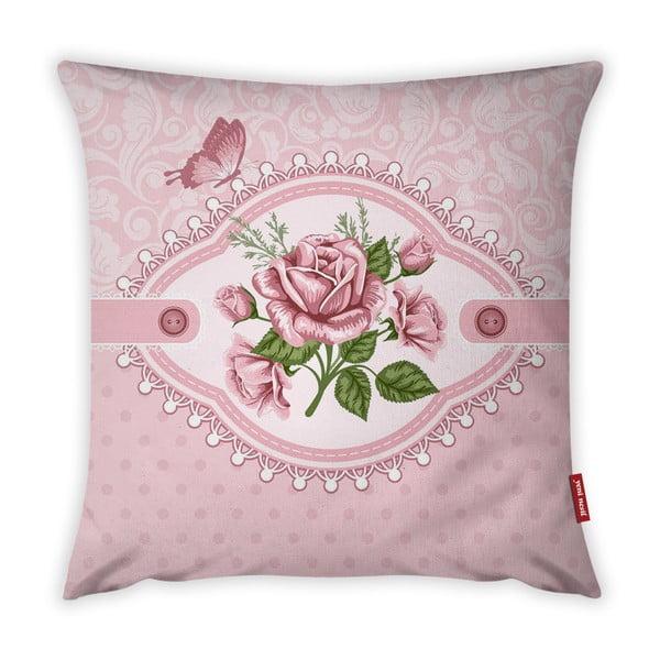 Față de pernă Vitaus Rustic Vintage Rosa Uno, 43 x 43 cm