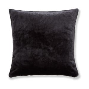 Černý povlak na polštář Catherine Lansfield Basic Cuddly, 55x55cm