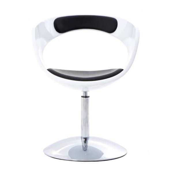 Otočná židle Flop, bílá/černá
