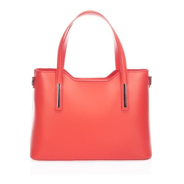 Kožená kabelka Markese 2418, červená