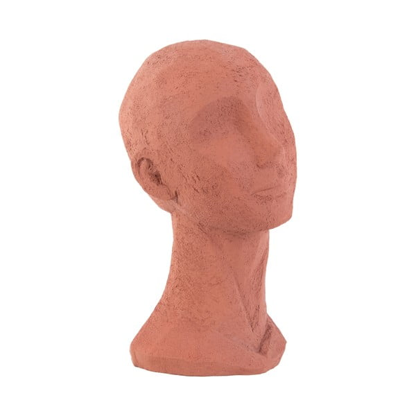 Terakotově oranžová dekorativní soška PT LIVING Face Art, výška 28,4 cm