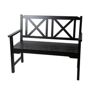 Dřevěná lavička, černá