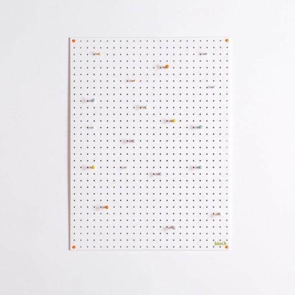 Multifunkční nástěnka Pegboard 61x81 cm, bílá