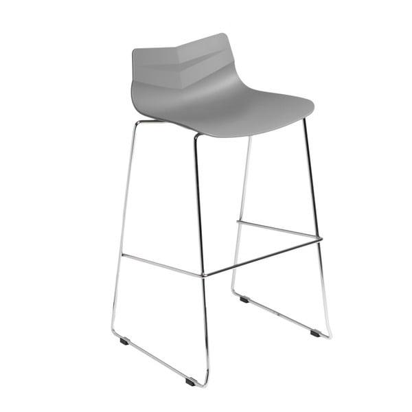Šedá barová židle D2 Leaf