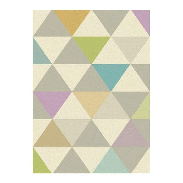 Koberec Asiatic Carpets Focus Triangles Multi, 80x150 cm