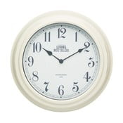 Krémové nástěnné hodiny Kitchen Craft Living Nostalgia, 25,5cm