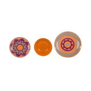 Sada 18 porcelánových talířů Ramponi Morgana