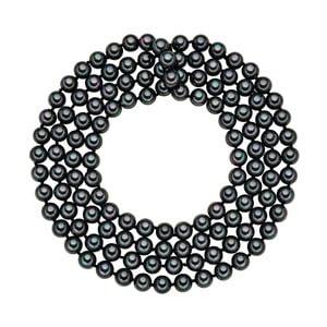 Lănțișor cu perle negru antracit Perldesse Muschel, ⌀ 8 mm, lungime 120 cm