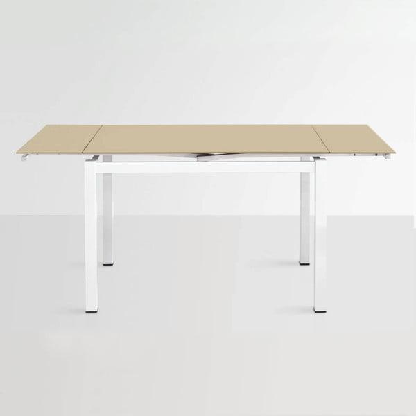 Rozkládací jídelní stůl Queen, 110-170 cm, béžový