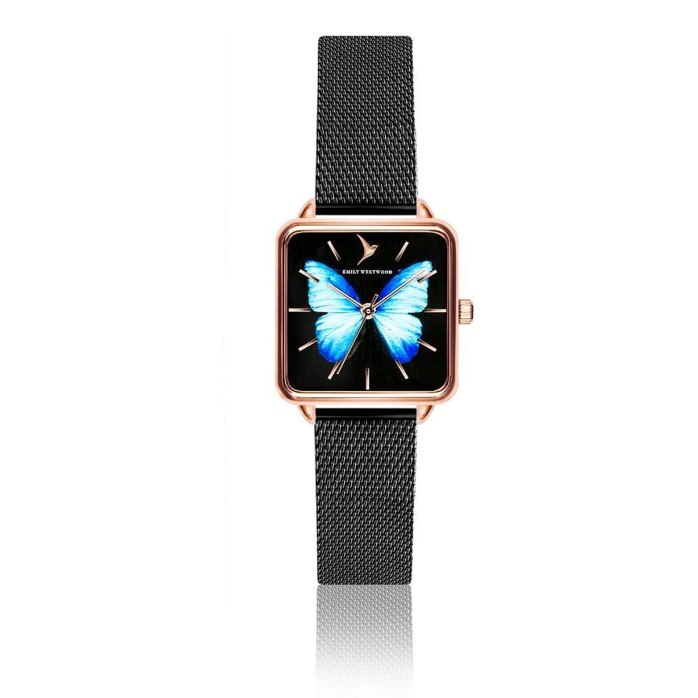 Dámské hodinky s páskem z nerezové oceli v černé barvě Emily Westwood  Brigitte bf538eb040