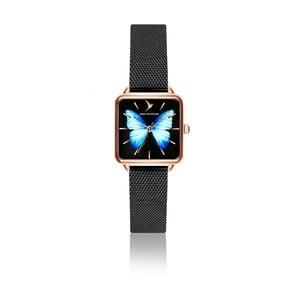 Dámské hodinky s páskem z nerezové oceli v černé barvě Emily Westwood Brigitte