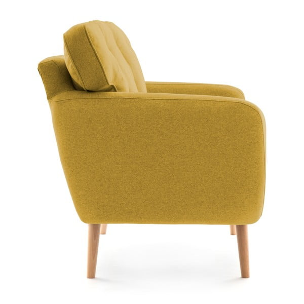 Canapea cu 3 locuri Vivonia Malva, galben