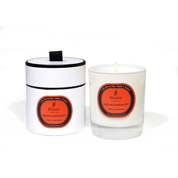 Amber keserű narancs és borostyán illatú gyertya, égési idő 50 óra - Parks Candles London