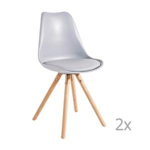 Set 2 scaune 13Casa Sven, gri