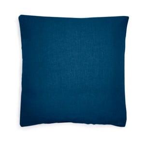 Tmavě modrý lněný povlak na polštář L'Officiel Interiirs, 60x60cm