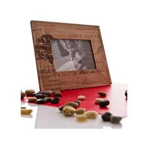 Dřevěný fotorámeček 20x25 cm, beige