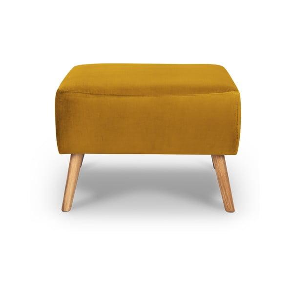 Elysée sárga bársony lábtartó - Interieurs 86