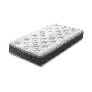Bílá matrace s šedým okrajem Bobochic Paris Fraicheur,90x200cm