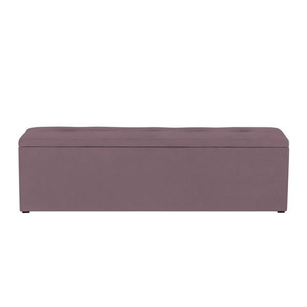 Bancă pentru pat cu spațiu de depozitare Kooko Home, 47 x 160 cm, mov