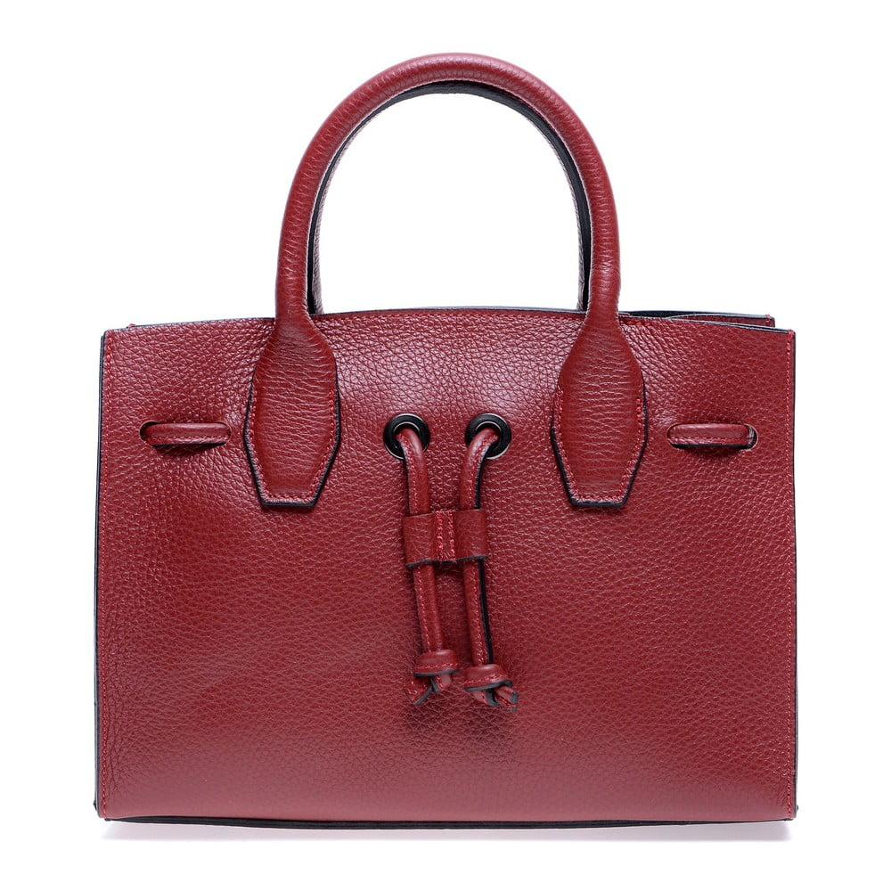 Červená kožená kabelka Roberta M Amalia