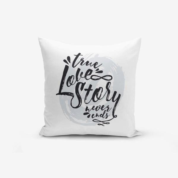 Poszewka na poduszkę z domieszką bawełny Minimalist Cushion Covers Love Story, 45x45 cm