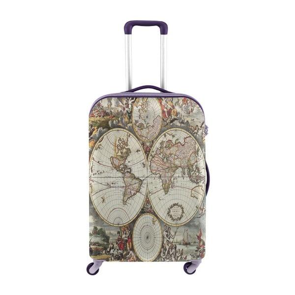 Husă pentru valiză Oyo Concept World Map, 76 x 49 cm