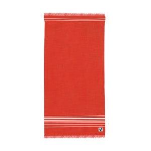 Červená osuška Origama Flat Seat, 100x200cm