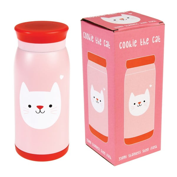 Cookie the Cat rozsdamentes acél vizespalack, 350 ml - Rex London