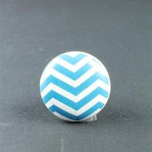 Porcelánová úchytka Blue Zigzag