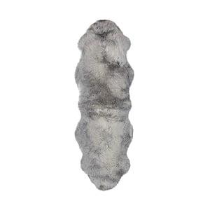 Šedý vlněný běhoun z ovčí kožešiny Auskin Slaven,60x180cm