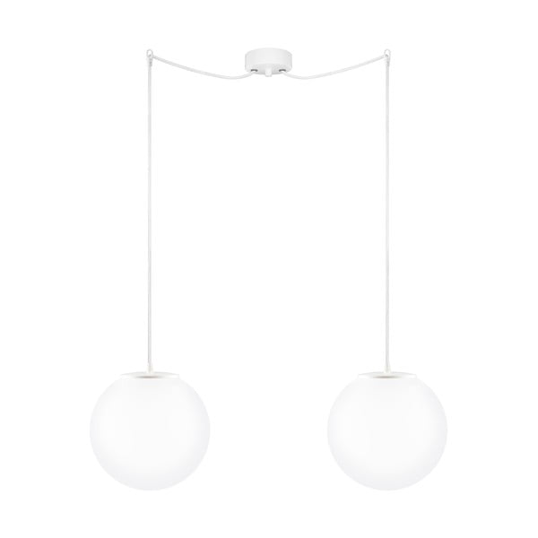 Dvojité světlo Tsuki M Elementary, matná opálová/bílá/bílá