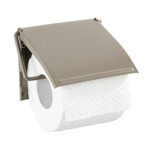 Hnědobéžový nástěnný držák na toaletní papír Wenko Cover