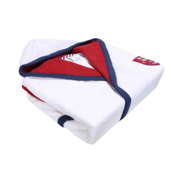 Biały szlafrok z czerwono-niebieskim obszyciem Golfie, rozm. XL