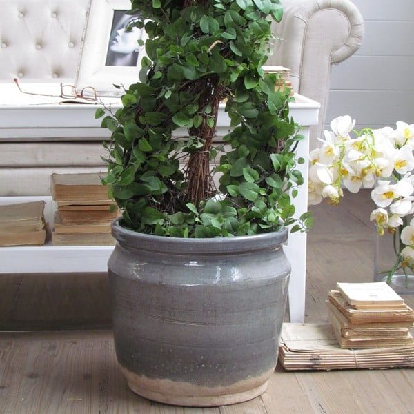 Květináč Support Grey Antique, 34x30 cm
