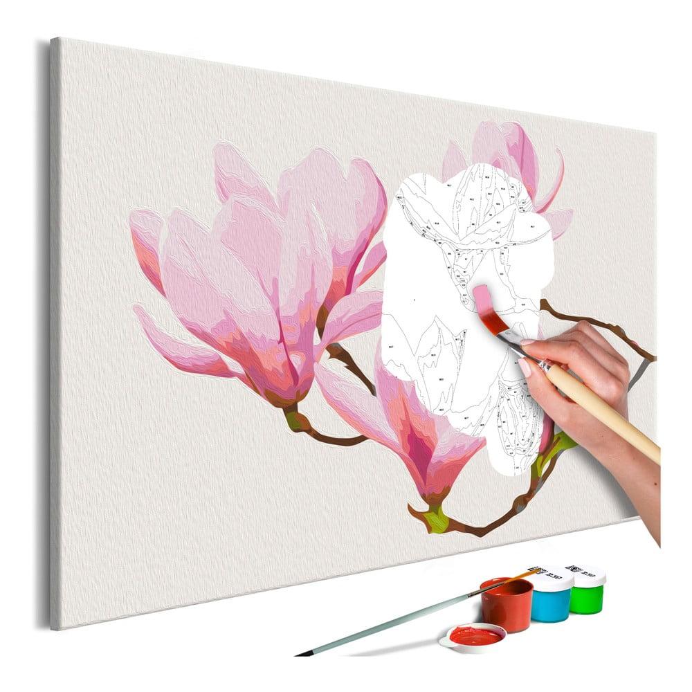 DIY set na tvorbu vlastního obrazu na plátně Artgeist Floral Twig, 60x40 cm