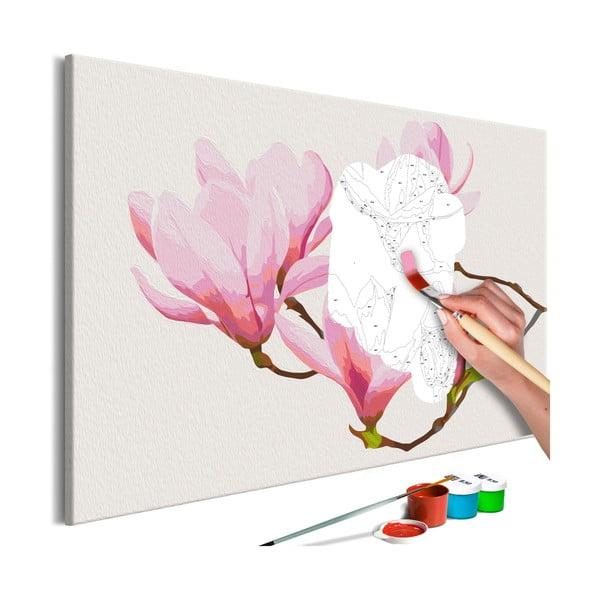DIY set na tvorbu vlastného obrazu na plátne Artgeist Floral Twig, 60×40 cm
