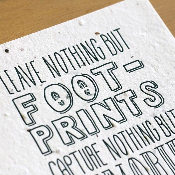 Plakát Leave nothing 41x30 cm