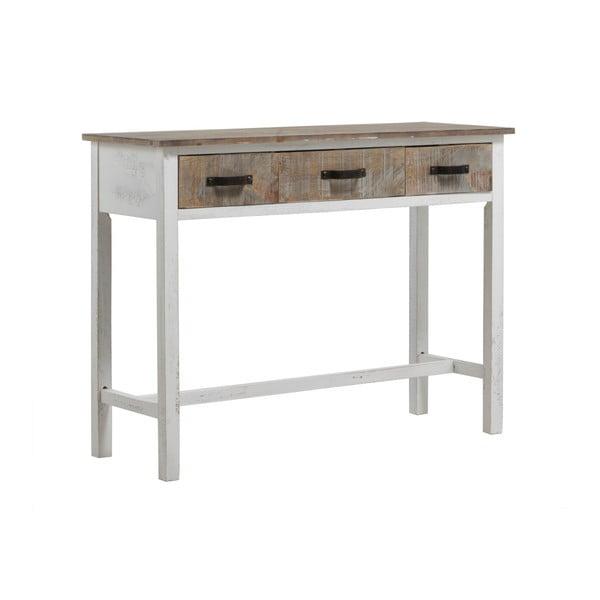 Bílý konzolový stolek Geese Rustic