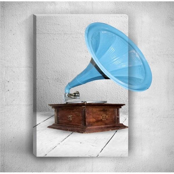 Nástěnný 3D obraz Mosticx Gramophone, 40 x 60 cm