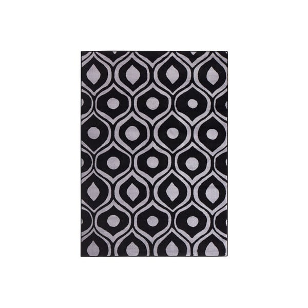 Černý koberec Dena, 160x225 cm