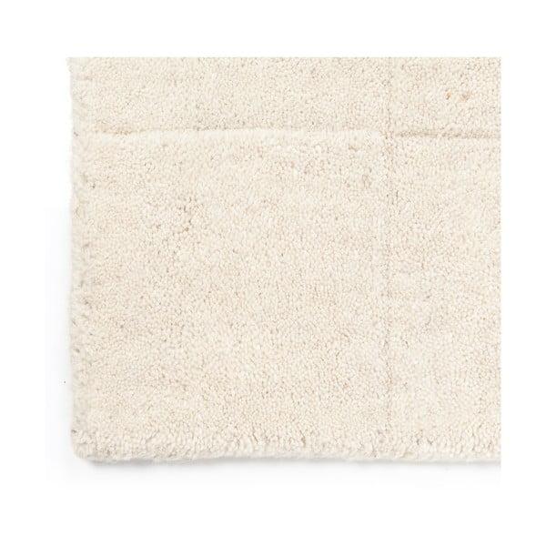 Vlněný koberec Luzern, 140x200 cm, bílý