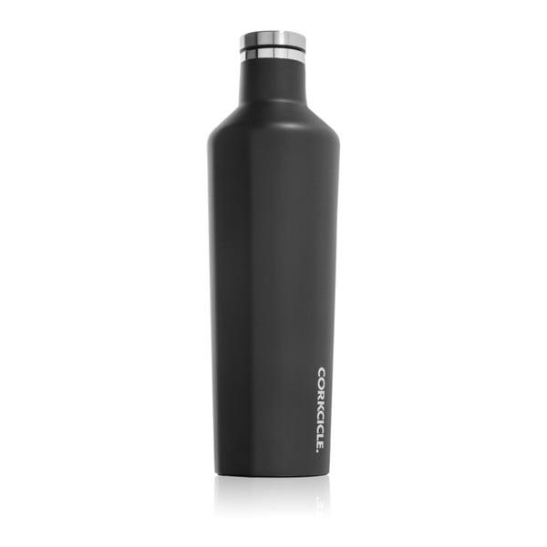 Černá cestovní termolahev Corkcicle Matte Black Large, 740 ml