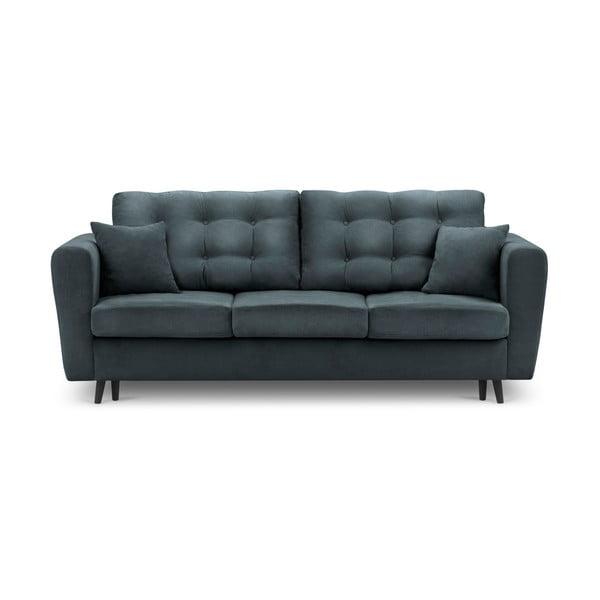 Chillout zöld kinyitható kanapé tárolóval - Kooko Home